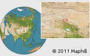 Satellite Location Map of Xusanwan
