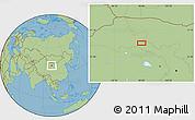 Savanna Style Location Map of Xusanwan