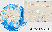 Shaded Relief Location Map of Xusanwan