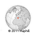 """Outline Map of the Area around 39° 30' 19"""" N, 9° 25' 30"""" E, rectangular outline"""