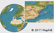 Satellite Location Map of Onda