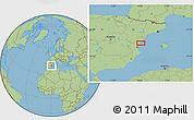 Savanna Style Location Map of Onda