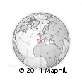 Outline Map of Oropesa, rectangular outline