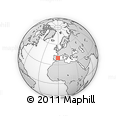 Outline Map of Alfara De Algimia, rectangular outline