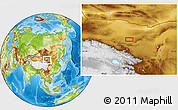 Physical Location Map of Badain Jaran