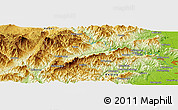 Physical Panoramic Map of Anzhuang