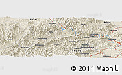 Shaded Relief Panoramic Map of Dougezhuang