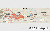 Shaded Relief Panoramic Map of Tongzhou