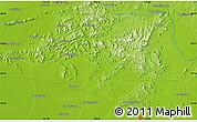 Physical Map of Chezhoushan