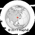Outline Map of Chezhoushan, rectangular outline