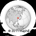 Outline Map of Delisi, rectangular outline