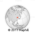Outline Map of Shuangta, rectangular outline