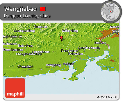 Physical Panoramic Map of Wangjiabao