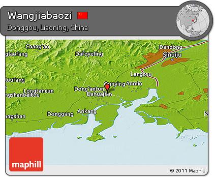 Physical Panoramic Map of Wangjiabaozi