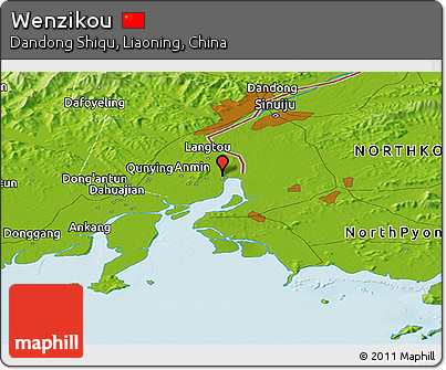 Physical Panoramic Map of Wenzikou