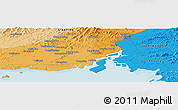 Political Panoramic Map of Shimen