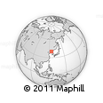 Outline Map of Hak-tong, rectangular outline