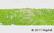 """Physical Panoramic Map of the area around 39°57'6""""N,125°1'30""""E"""