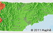 Political 3D Map of Hamhŭng