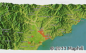 Satellite 3D Map of Hamhŭng