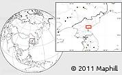 Blank Location Map of Hamhŭng