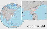 Gray Location Map of Hamhŭng