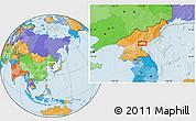 Political Location Map of Hamhŭng