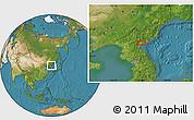 Satellite Location Map of Hamhŭng