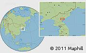 Savanna Style Location Map of Hamhŭng