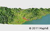Satellite Panoramic Map of Hamhŭng
