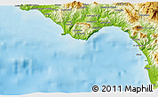 Physical 3D Map of Praia a Mare