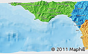 Political 3D Map of Praia a Mare