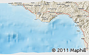 Shaded Relief 3D Map of Praia a Mare