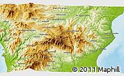 Physical 3D Map of Morano Calabro