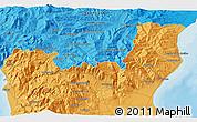 Political 3D Map of Morano Calabro