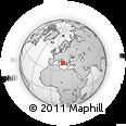 Outline Map of Latronico, rectangular outline