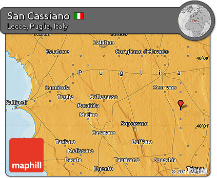san cassiano italy map Free Political Map Of San Cassiano