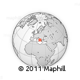 Outline Map of Ruffano, rectangular outline