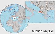 Gray Location Map of Stjar
