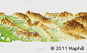 Physical Panoramic Map of Çarshovë