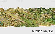 Satellite Panoramic Map of Frashtan