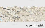 Shaded Relief Panoramic Map of Frashtan