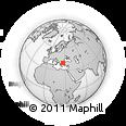 Outline Map of Tevfikiye, rectangular outline