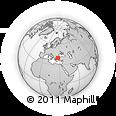 Outline Map of Yeniçeri, rectangular outline