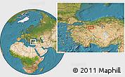 Satellite Location Map of Eskişehir