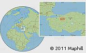 Savanna Style Location Map of Eskişehir