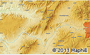 """Physical Map of the area around 39°57'6""""N,32°22'30""""E"""