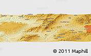 """Physical Panoramic Map of the area around 39°57'6""""N,32°22'30""""E"""