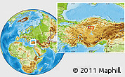 Physical Location Map of Ankara