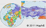 Political Location Map of Ankara